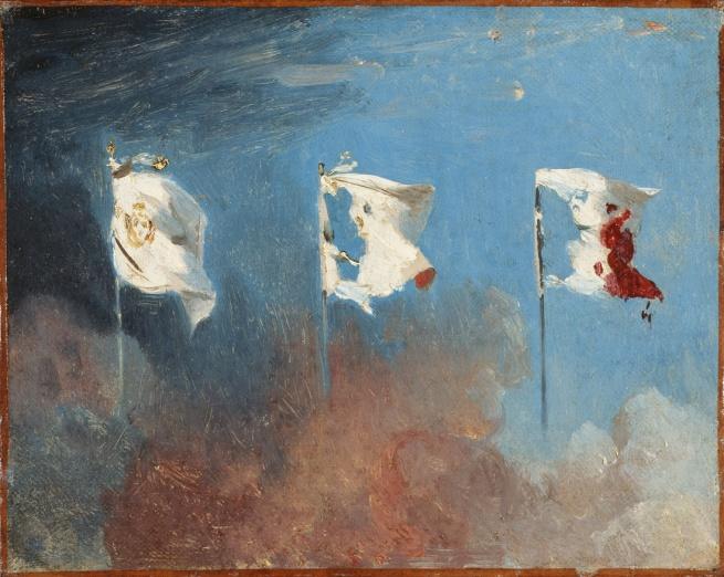 Léon Cogniet. 'Les Drapeaux' 1830