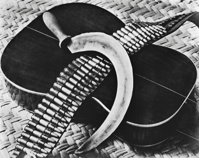 Tina Modotti (1896-1942) 'Guitare, cartouchière et faucille (Guitar, cartridge belt and sickle)' 1st June 1929