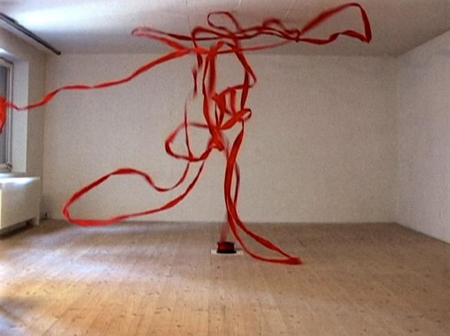 Roman Signer. 'Rotes Band / Red Tape' 2005