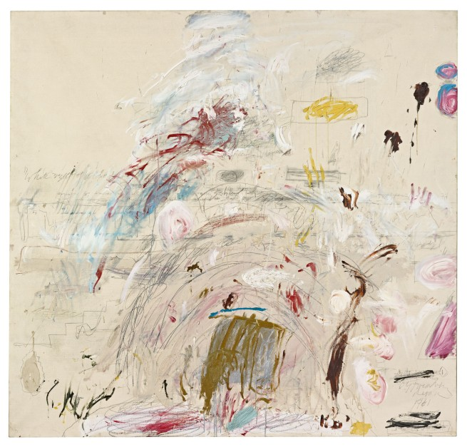 Cy Twombly. 'School of Athens' 1961