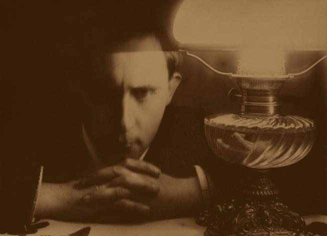 Stanislaw Ignacy Witkiewicz. 'Self-Portrait (Collapse by the Lamp/Kolaps przy lampie)' c. 1913
