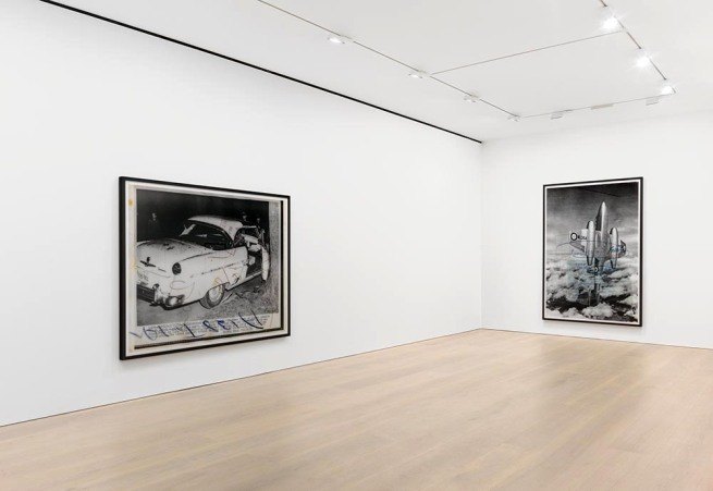press++28.19, 2016. Chromogenic print, 72 7/8 x 93 3/4 inches (185 x 238 cm) Installation view of Thomas Ruff's New Works at David Zwirner New York, November 18 – December 23, 2016