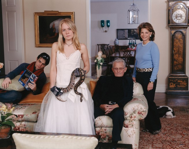 Tina Barney. 'Family Commission with Snake' 2007