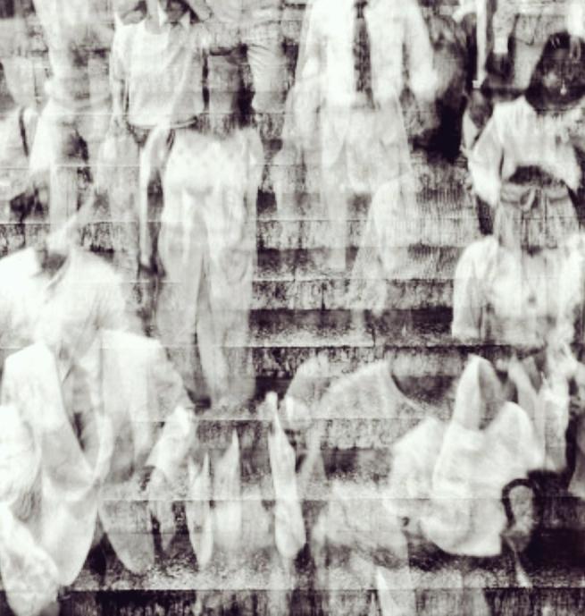 Shōmei Tōmatsu. 'Rush Hour, Tokyo' (detail) 1981