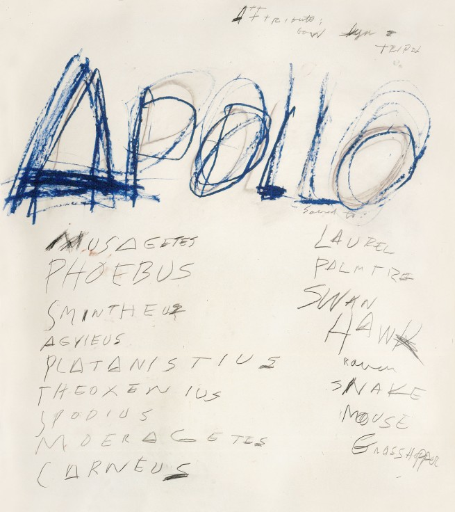 Cy Twombly. 'Apollo' 1975