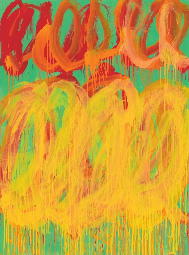 Cy Twombly. 'Camino Real (V)' 2010
