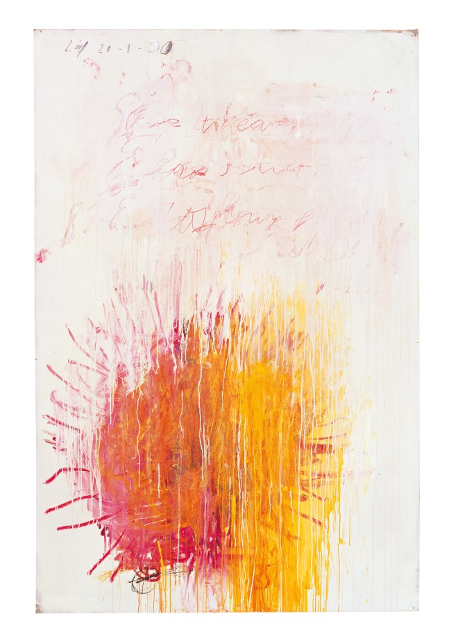 Cy Twombly. 'Coronation of Sesostris (Part III)' 2000