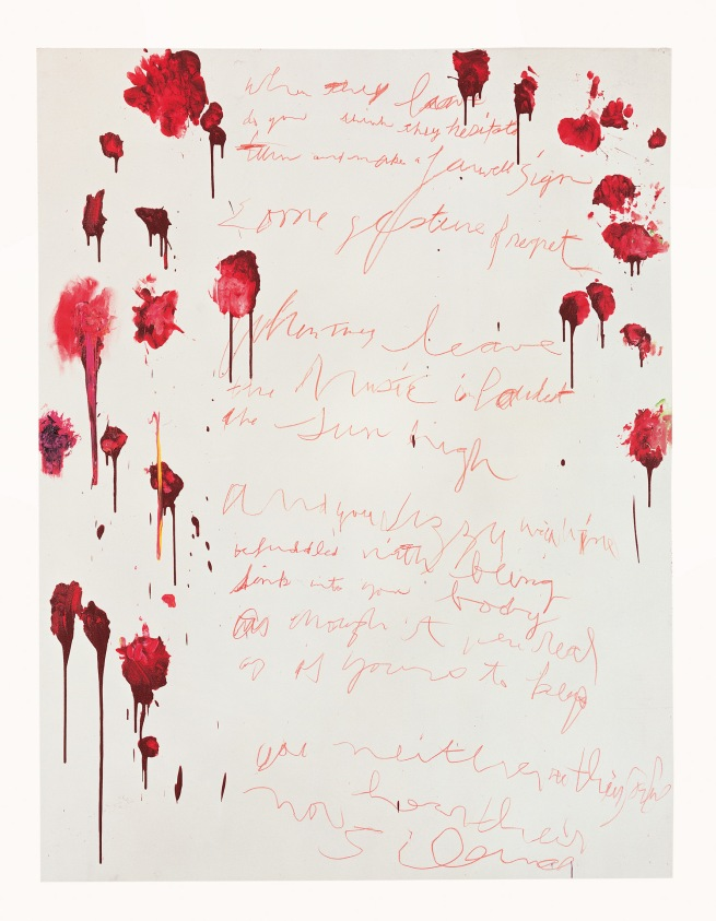 Cy Twombly. 'Coronation of Sesostris (Part VI)' 2000