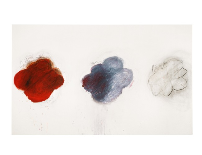 Cy Twombly. 'Fifty Days at Iliam Shades of Achilles, Patroclus and Hector (Part VI)' 1978