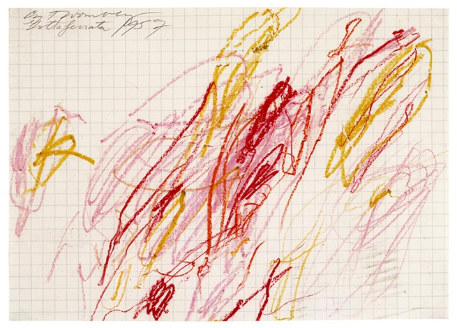 Cy Twombly. 'Untitled (Grottaferrata) III' 1957