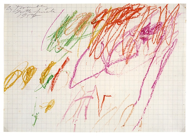 Cy Twombly. 'Untitled (Grottaferrata) IV' 1957