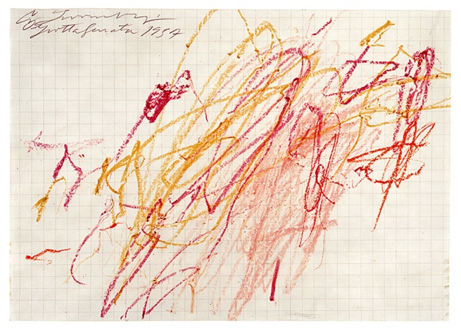 Cy Twombly. 'Untitled (Grottaferrata) V' 1957
