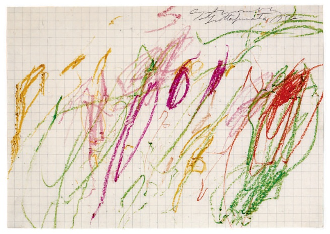 Cy Twombly. 'Untitled (Grottaferrata) VI' 1957