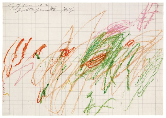 Cy Twombly. 'Untitled (Grottaferrata) VII' 1957