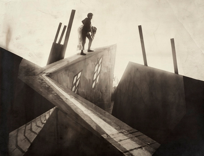 Unknown photographer. 'Set photograph from The Cabinet of Dr. Caligari (Das Kabinett des Dr. Caligari)' 1919
