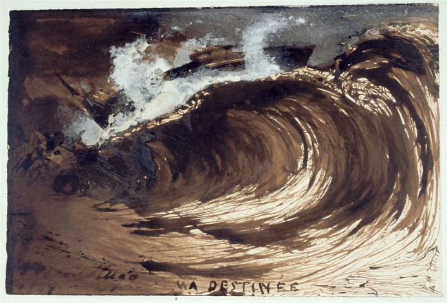 Victor Hugo. 'La vague ou Ma destinée (The wave or My destiny)' 1857