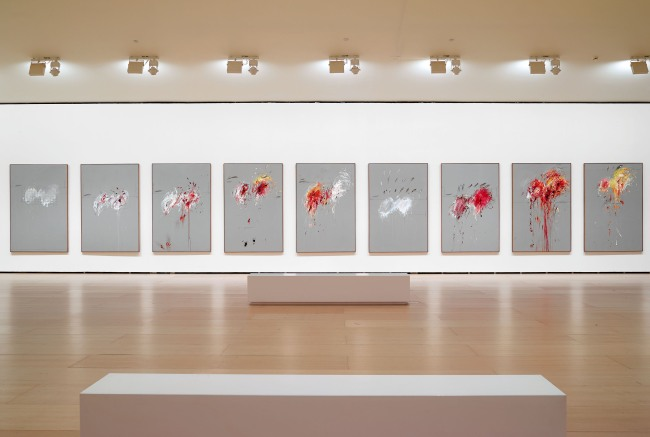 Cy Twombly. View of the series 'Nine Discourses on Commodus' 1963