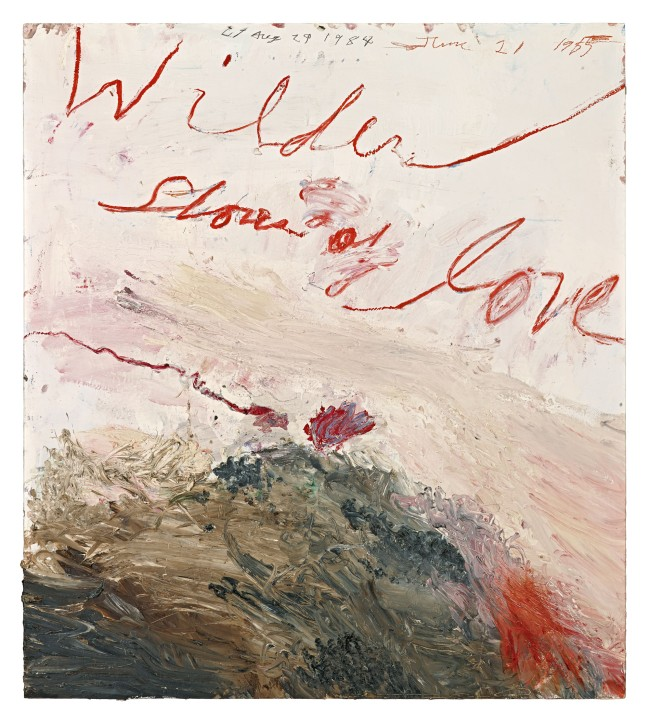 Cy Twombly. 'Wilder Shores of Love' 1985