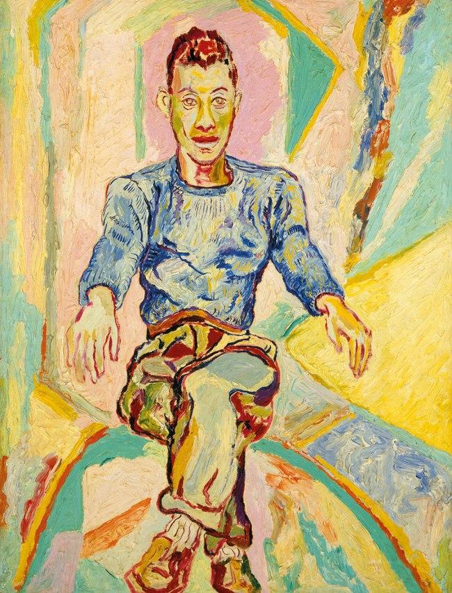 Beauford Delaney. 'James Baldwin' c. 1957