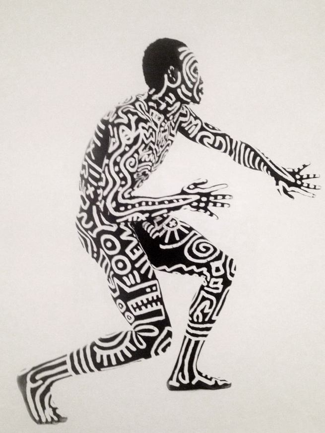 Tseng Kwong Chi. 'Bill T. Jones Body Painting with Keith Haring' 1983
