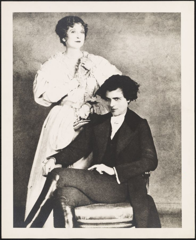 Anonymous photographer. 'Effie Shannon as Marie-Louise (left) and Michael Strange in the title role of 'L'Aiglon'' 1927