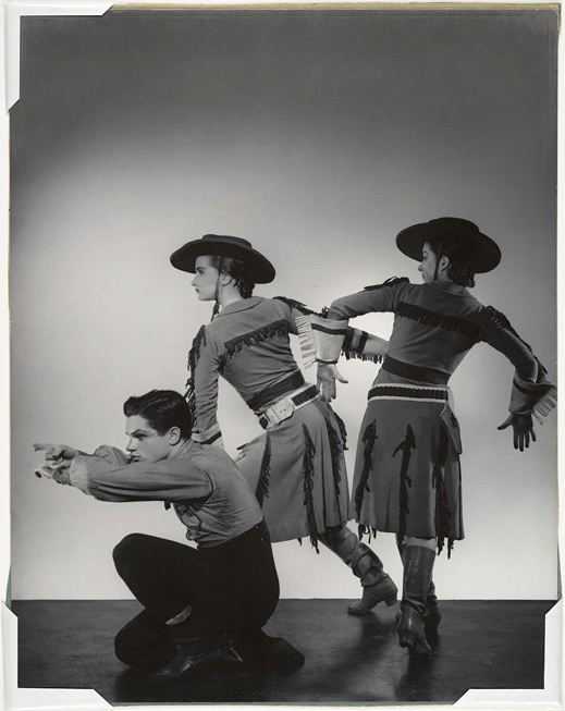 George Platt Lynes. 'From left, Michael Kidd, Beatrice Tomkins, and Ruby Asquith in 'Billy the Kid'' 1938, printed c. 1953