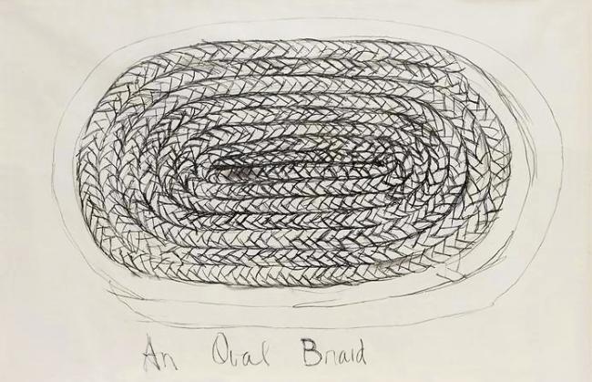 Harmony Hammond. 'An Oval Braid' 1972