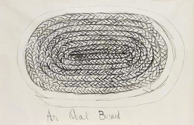 Harmony Hammond. 'An Oval Braid' 1972