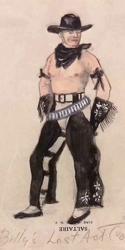 "Jared French. 'Billy the Kid costume sketch for ""Billy's Last Act""' 1938 (detail)"