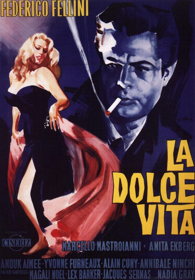 Poster for La Dolce Vita (The Sweet Life) 1959