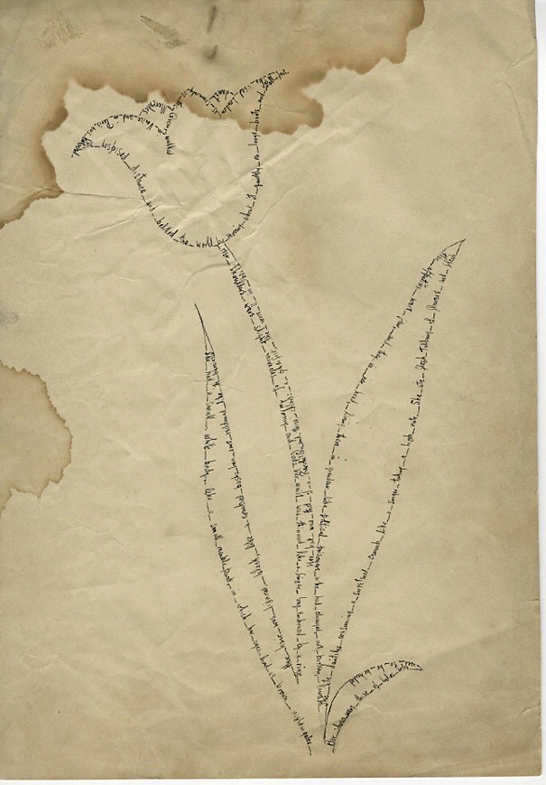 Janet Flanner. 'Letter in the shape of a tulip from Janet Flanner to Mercedes de Acosta' 1928