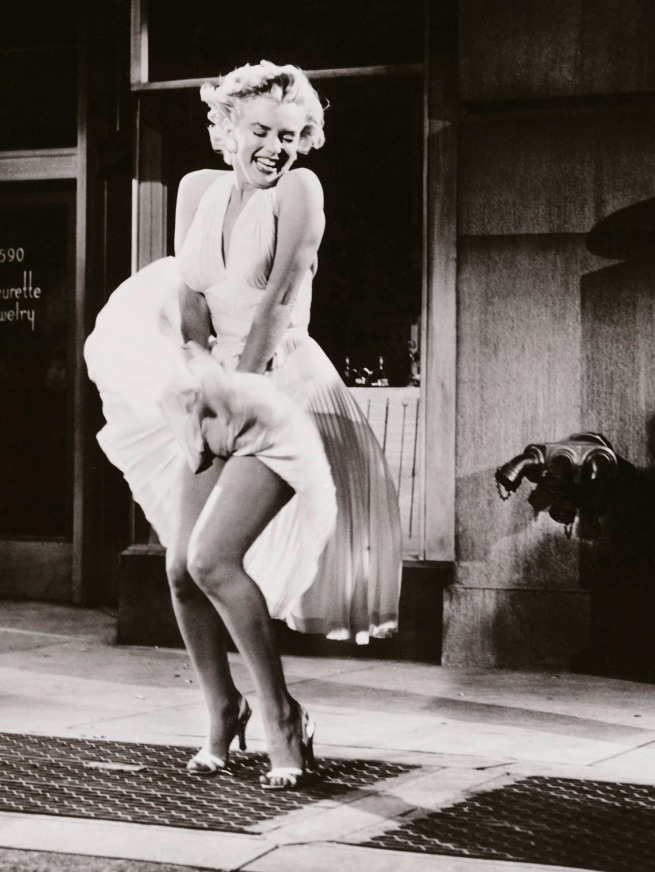 Sam Shaw. Marilyn Monroe and Tom Ewell in 'The Seven Year Itch' 1954 (detail)