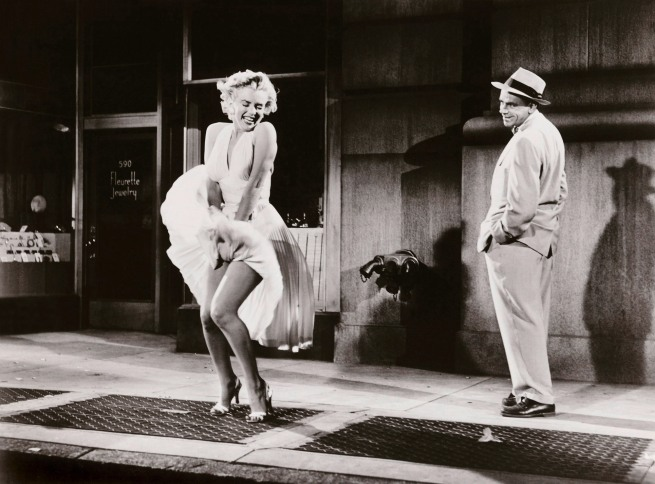 Sam Shaw. Marilyn Monroe and Tom Ewell in 'The Seven Year Itch' 1954
