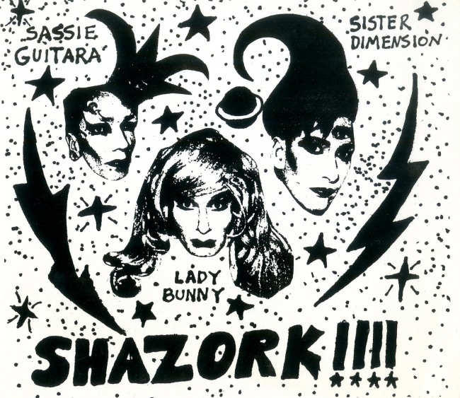 'Shazork! invitation, Danceteria' late 1980s
