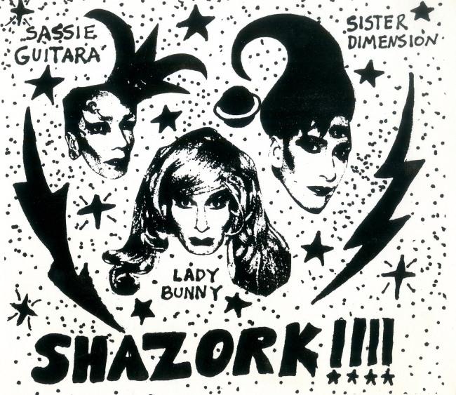 'Shazork! invitation, Danceteria' late 1980s