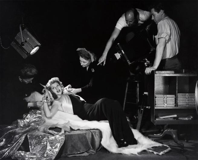 "Philippe Halsman. '""Rita Hayworth,"" Harper's Bazaar Studio' 1943"