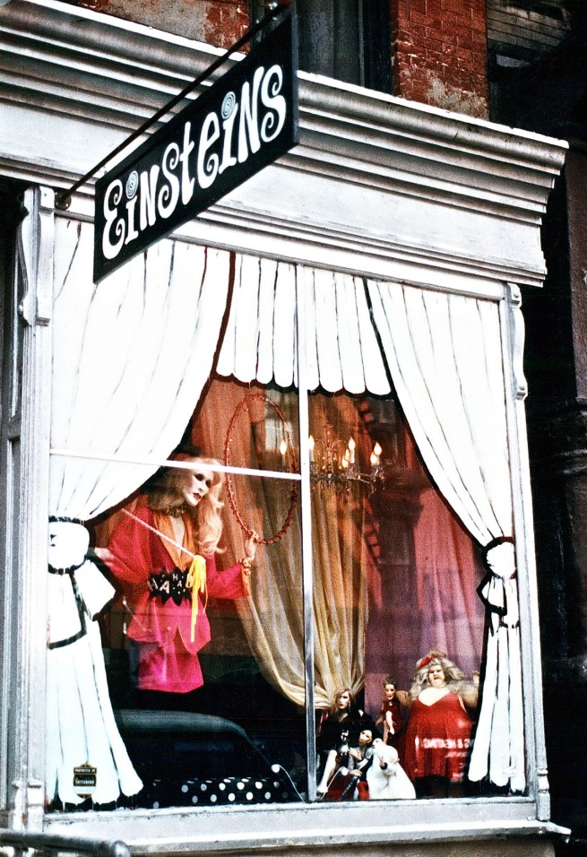"Greer Lankton (dolls and photo) 'Einsteins ""Circus"" window display by Greer Lankton and Paul Monroe' 1986"