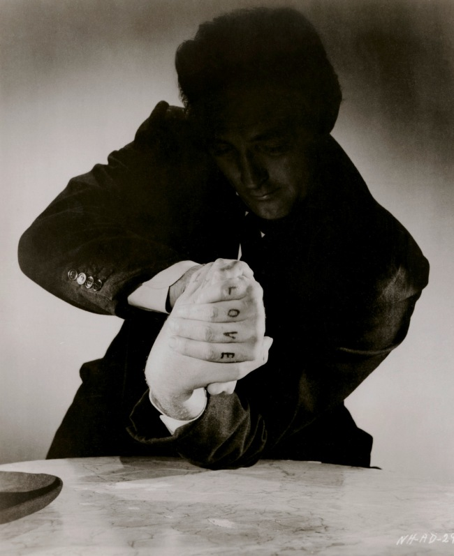 Anonymous. Robert Mitchum in 'The Night of the Hunter' 1955