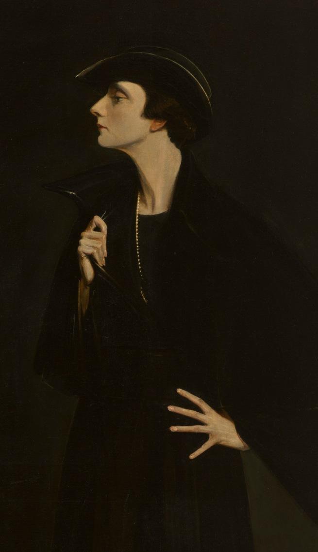 Abram Poole. 'Mercedes de Acosta' 1923 (detail)