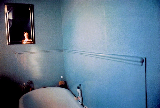 Nan Goldin (American, born 1953) 'Self-Portrait in Blue Bathroom, London' 1980