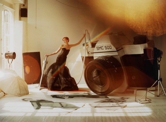 Tim Walker. 'Lily Cole with Giant Camera' 2004