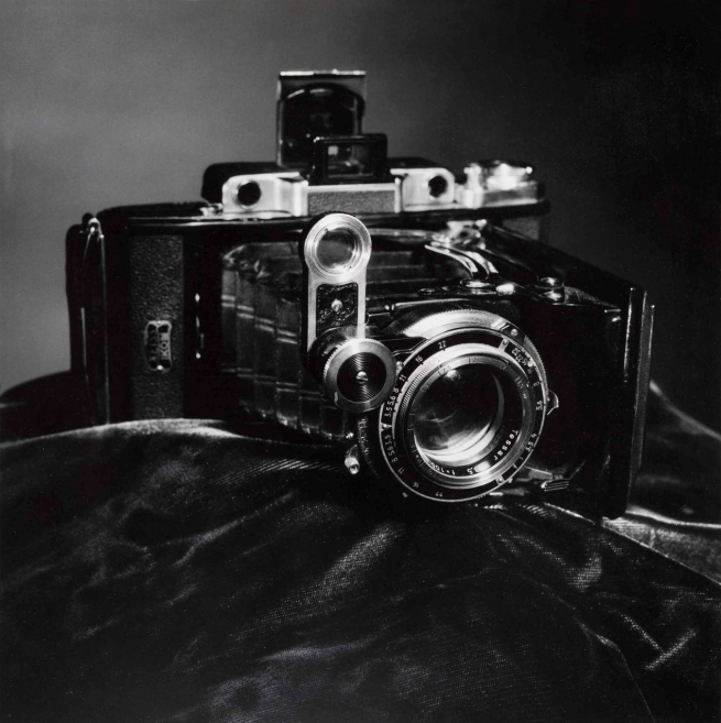 Photographer unknown. 'Camera on black cloth' Date unknown