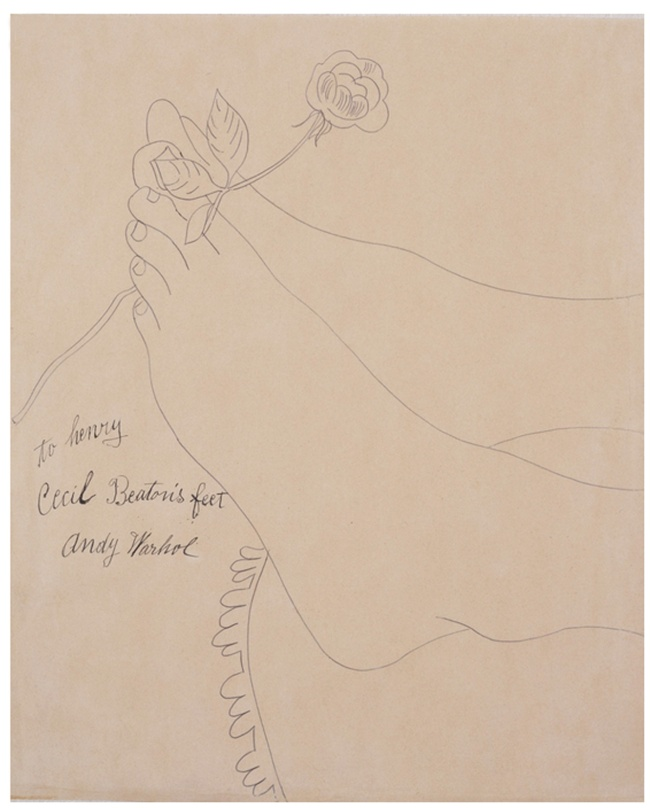 Andy Warhol. 'Cecil Beaton's Feet' 1961