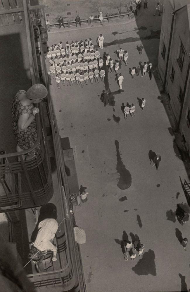 Aleksandr Rodchenko. 'Assembling for a Demonstration' 1928-30