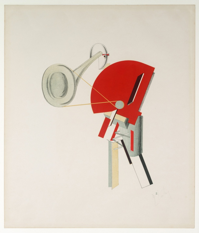 El Lissitzky (Russian, 1890-1941) 'Announcer (Ansager)' 1923