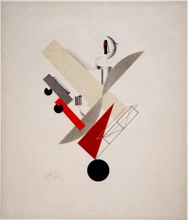 El Lissitzky (Russian, 1890-1941) 'The Globetrotter' 1923