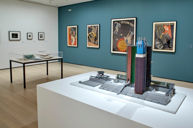 Installation view of 'A Revolutionary Impulse: The Rise of the Russian Avant-Garde'. The Museum of Modern Art, New York, December 3, 2016-March 12, 2017