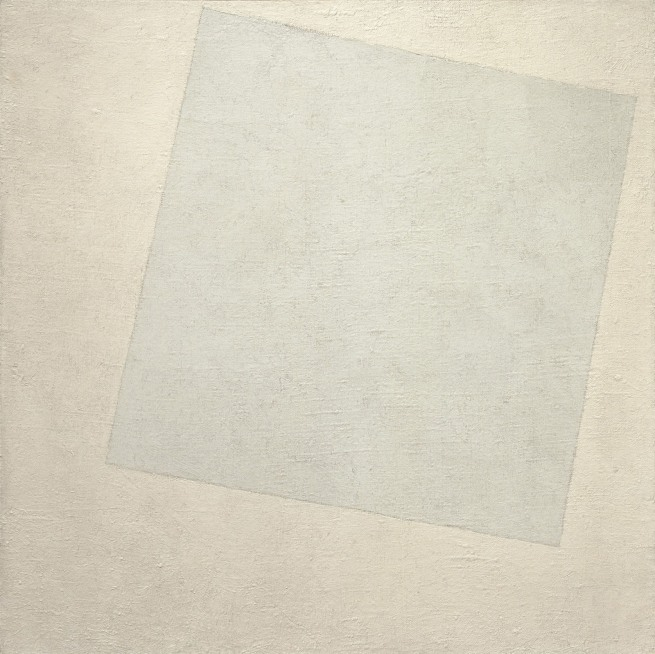 Kazimir Malevich. 'Suprematist Composition: White on White' 1918