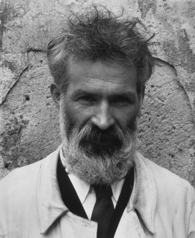 Edward Steichen (1879-1973) 'Brancusi, Voulangis, France' c. 1922; printed 1987