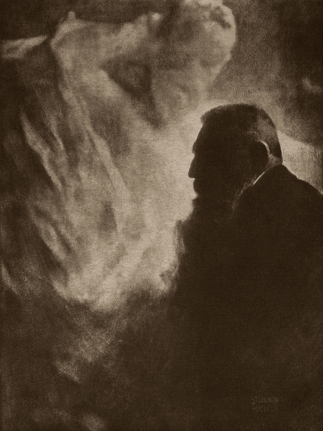 Edward Steichen (1879-1973) 'Auguste Rodin and the Monument to Victor Hugo' 1902